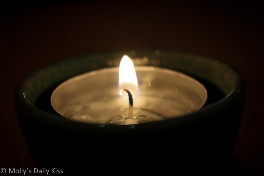 Macro shot of a candle wick