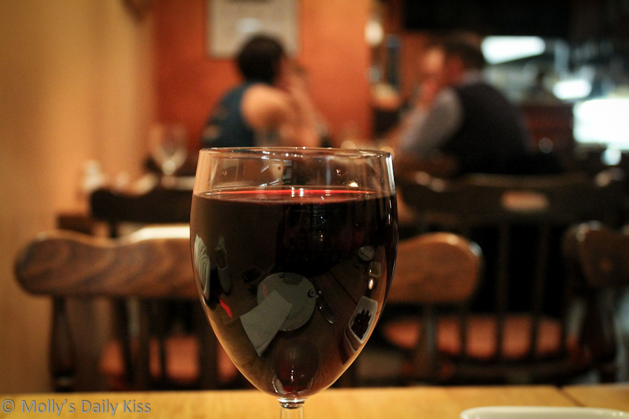 Dinners through a glass of red wine