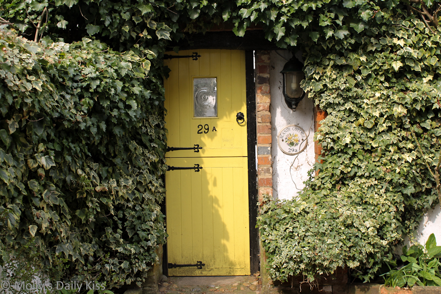 Yellow cottage doorway