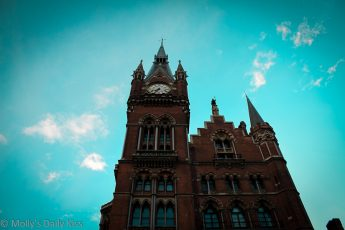 St Pancras Station London Sky line