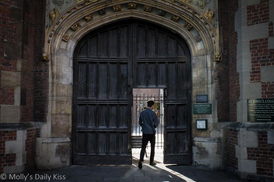 Gateway into college Cambridge