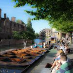 Punting on the river at Cambridge