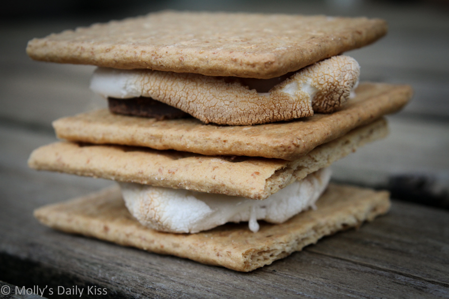 A pile of S'mores