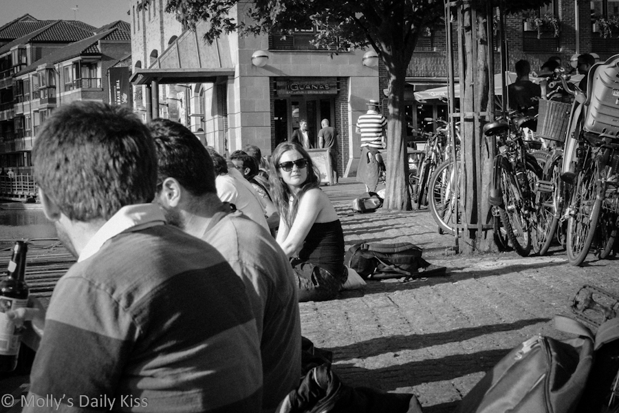 Unknow girl by the river on Cambridge