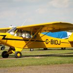 Yellow small single seat plane
