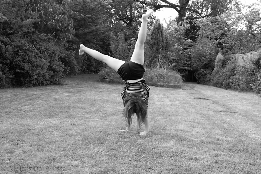 Doing a cartwheel