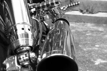 Chrome on a Harley Davidson Born to Run