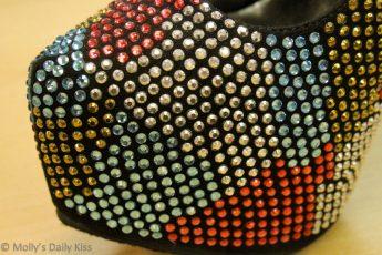 Glittery shoes in South Street Philadelphia