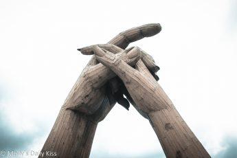 Hands clasp statue Gretna Green
