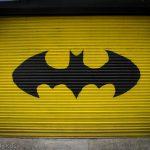 Batman sign on garage door, Philadelphia