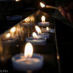 Lighting church candle