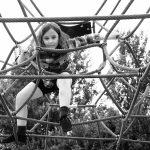 Child climbing ropetree