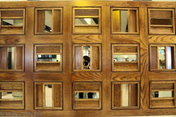 Self portrait in a bank of mirrors