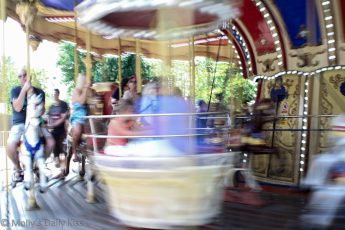 merry go round at the fair