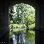 River through tunnel