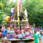 Spinning round in the playground