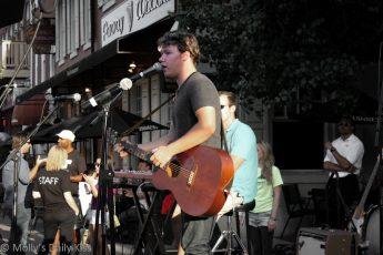 Street music in south Street Philadelphia