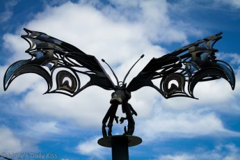 Winged insect statue