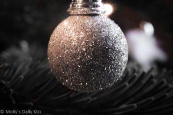 Silver Christmas glitter ball