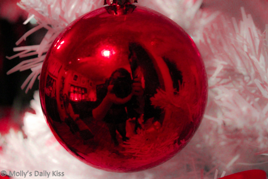 My reflection in red bauble