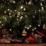 Christmas tree on Christmas eve