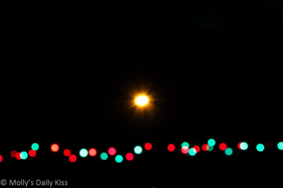 Outdoor Christmas light Bokah