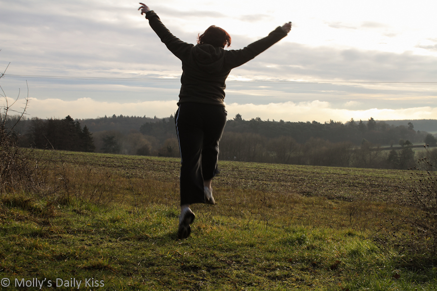 Self portrait of molly jumping