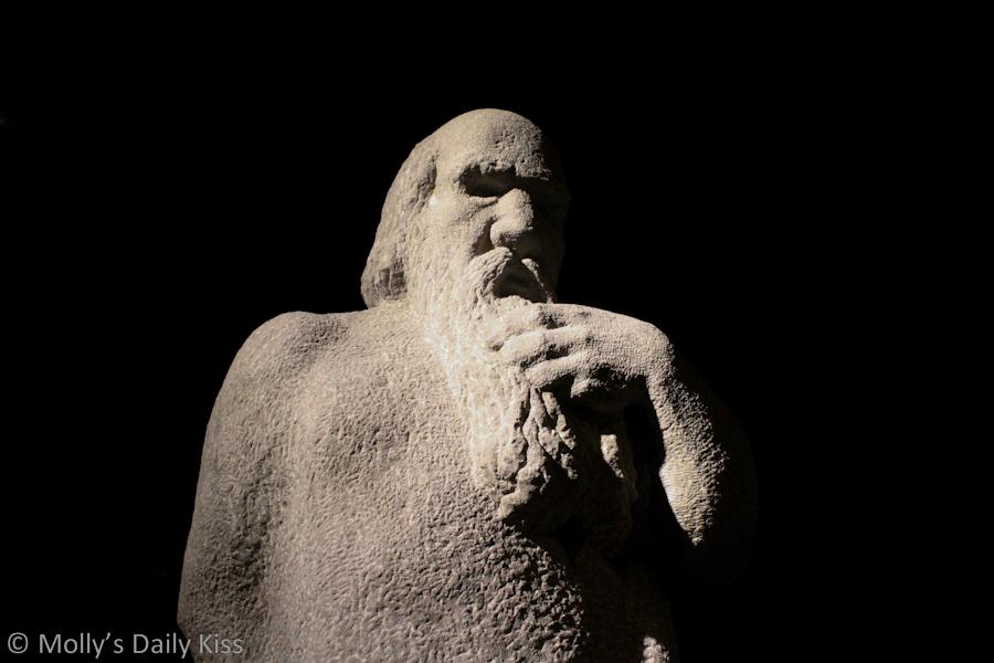 Stone man statue in Philadelphia