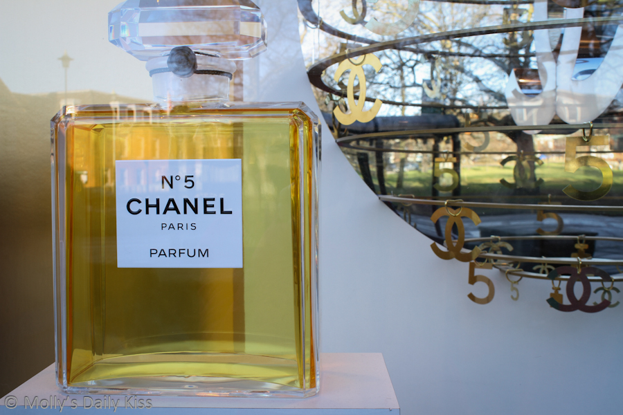 Giant bottle of Chanel No.5