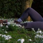 Laying in the snowdrops
