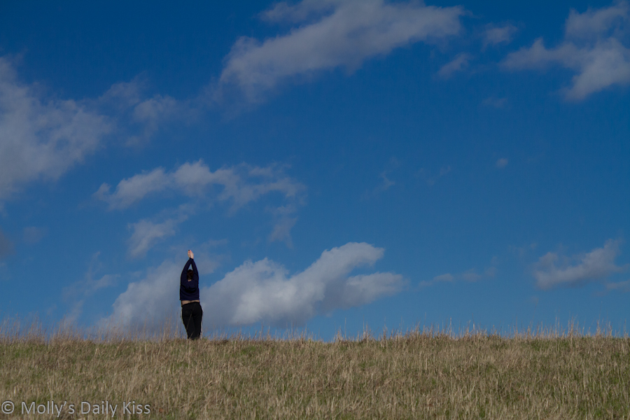 Self portrait in spring field