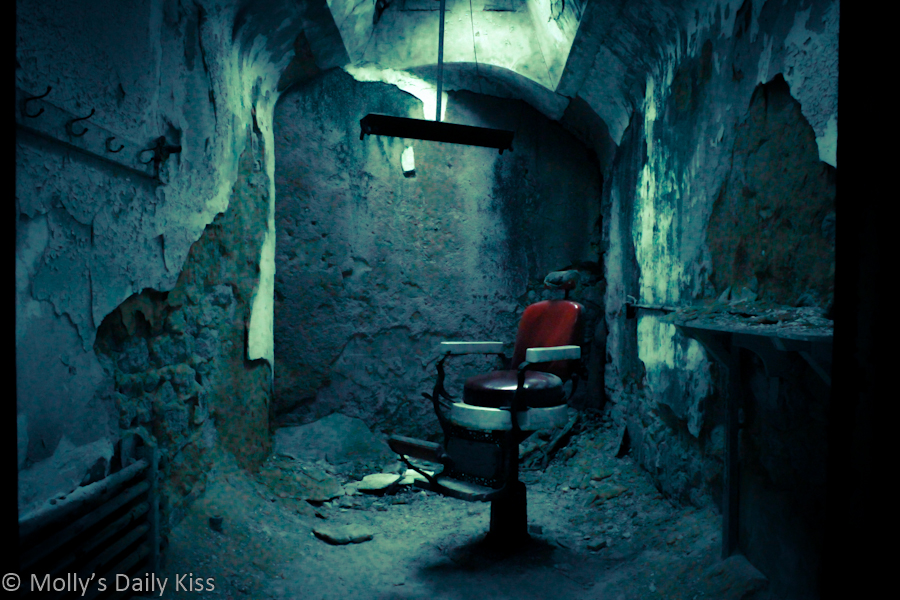 Dental chair in eastern State Penitentiary