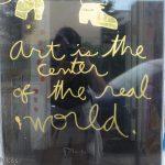 Art quote on door in South Street Philadelphia
