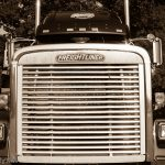 Front end of large American truck