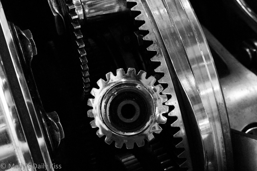 Gears on a bicycle