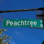 Peaachtree St sign in Atlanta