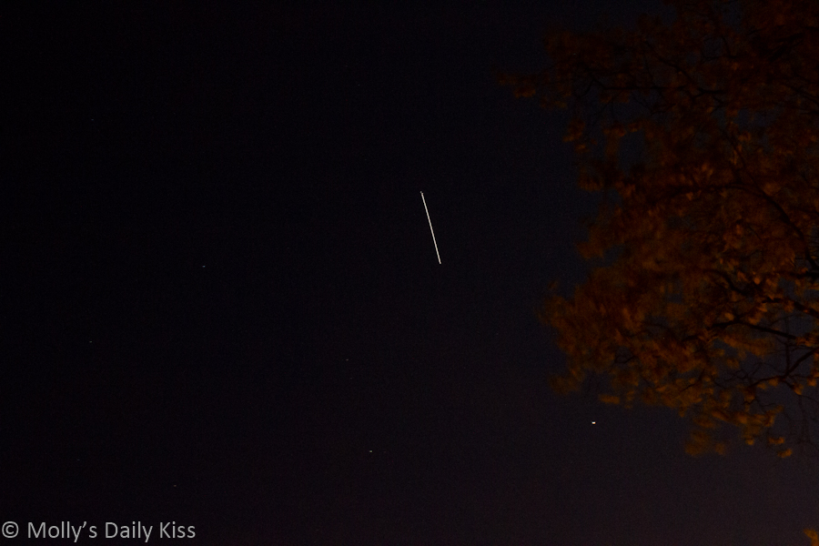 Interntational space station in the sky
