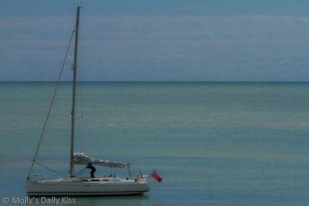 Sailing boat in Brighton Marina