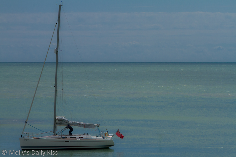 Sailing boat in Brighton Marina