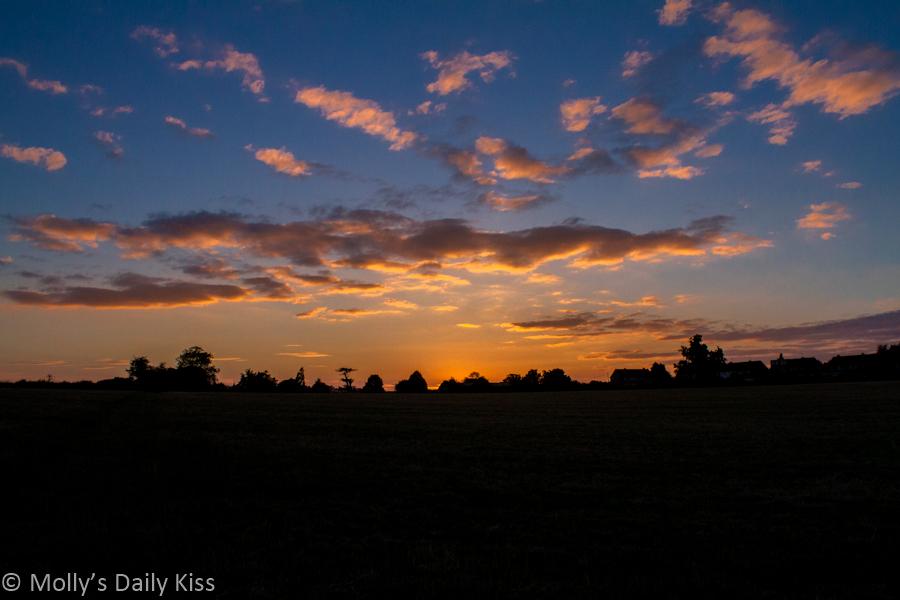 Sunset over Tewin Hertfordshire
