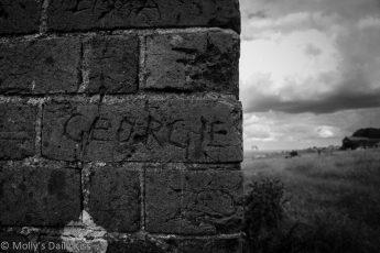 Graffiti on devils Dyke forge
