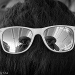 Self portrait on sun glasses