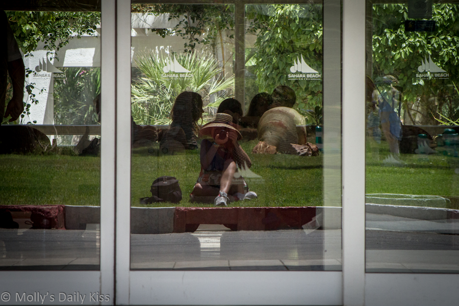 Self Portrait in glass door