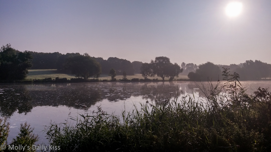 Early mornng mist over Stanborough Lake