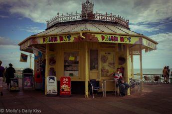 Coffee at a beach hut on Brighton