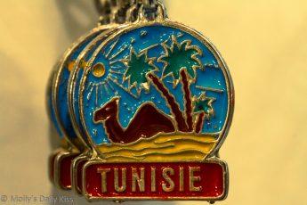 macro shot of Tunisia keyring