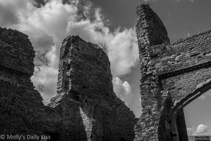 astle ruins against cloud sky