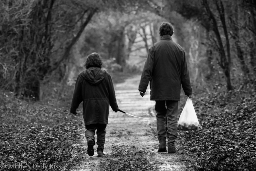 Couple walking in the countryside