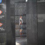Reflection of young man in war memorial Philadelphia