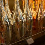 Gold champagne bottles